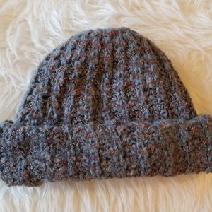 Nordstrom Women's Gray Knit Hat Made In Italy